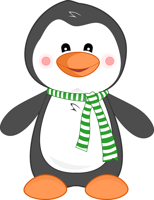 penguin animal cute free vector