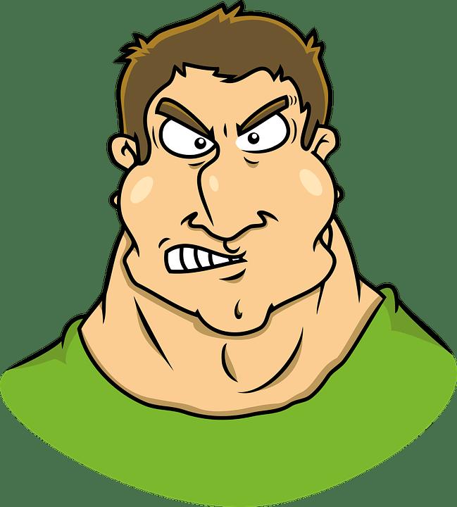 Annoying, Brawny, Caricature, Comic, Exterminator