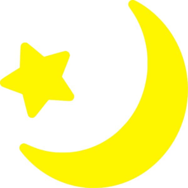crescent moon free vector graphic