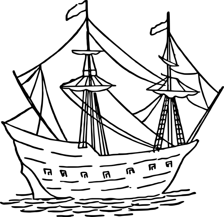 Free vector graphic: Boat, Caravel, Naval, Portuguese