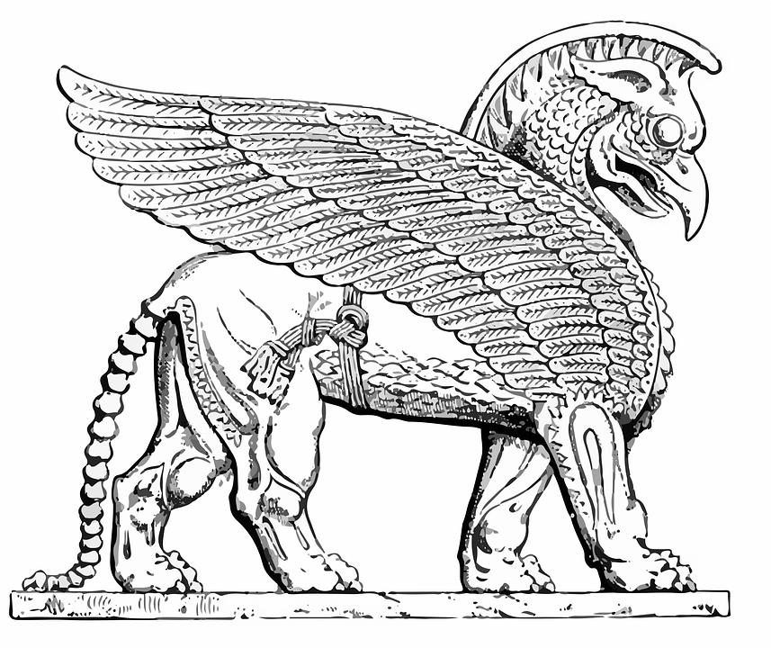 Assyrien Créatures Dessin · Images vectorielles gratuites