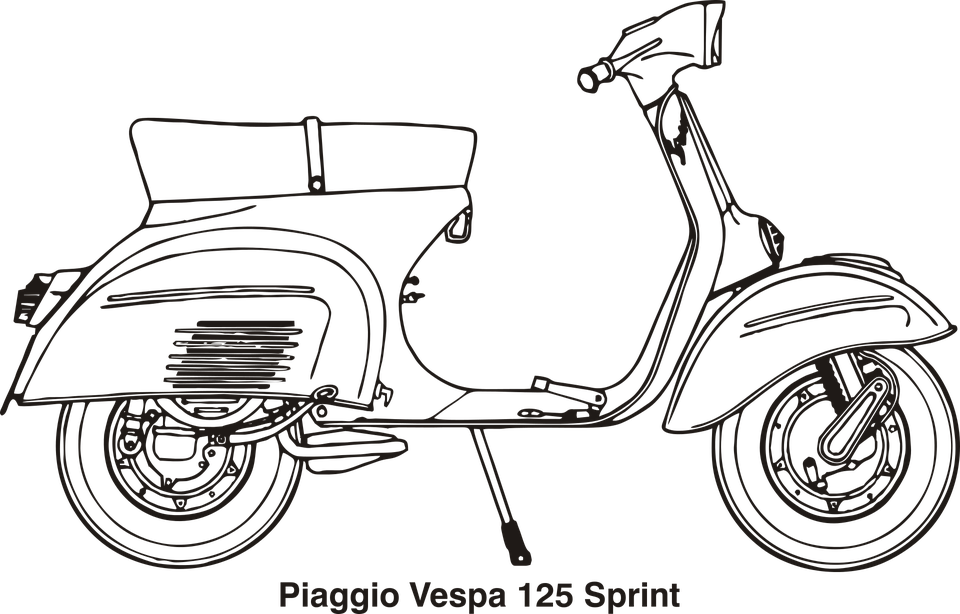 Δωρεάν διανυσματικό γραφικό: Μοτοσικλέτας, Vespa, Piaggio