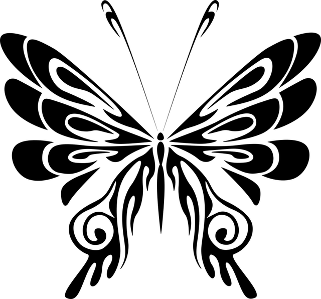 Free vector graphic Abstract Animal Black Butterfly