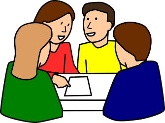 classroom learning cooperative discussion students vector graphic