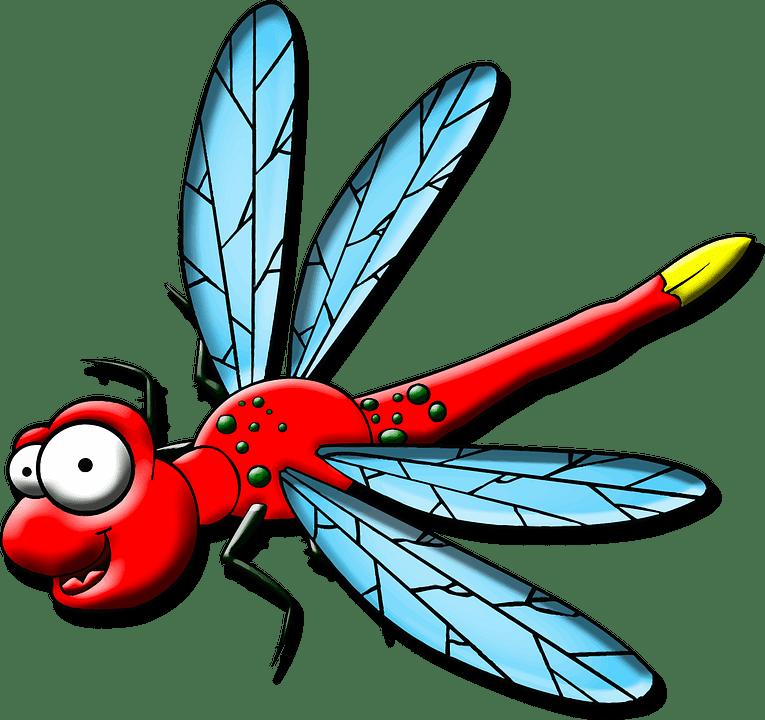 cartoon character dragonfly free