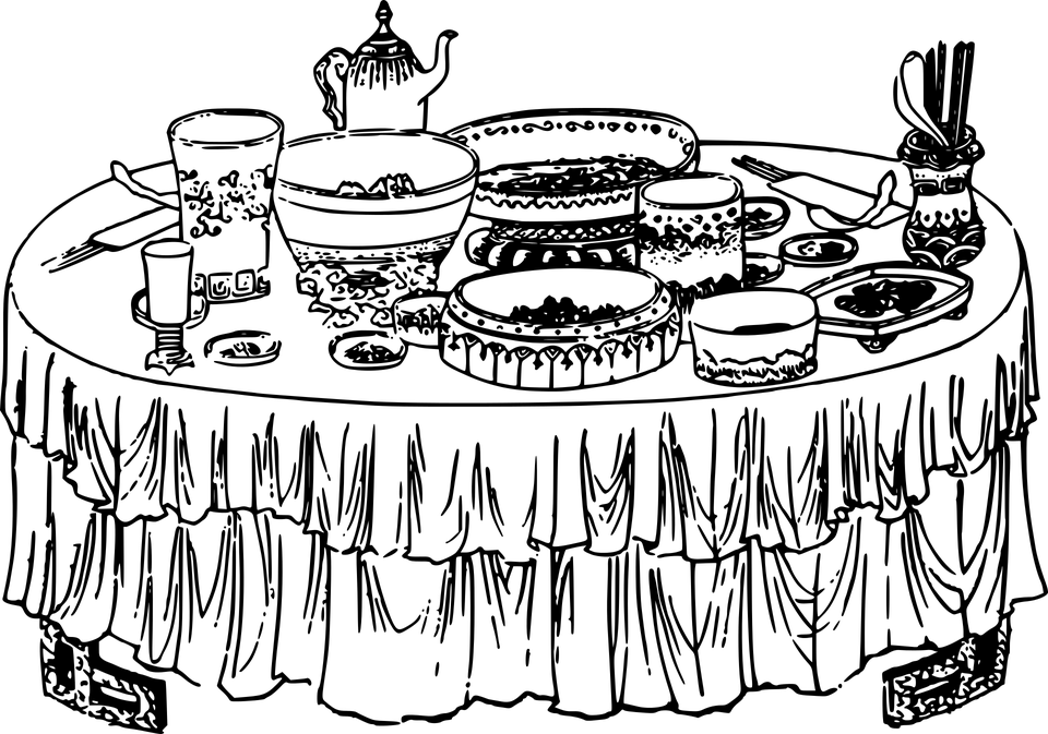 Buffet Food Spread · Free vector graphic on Pixabay