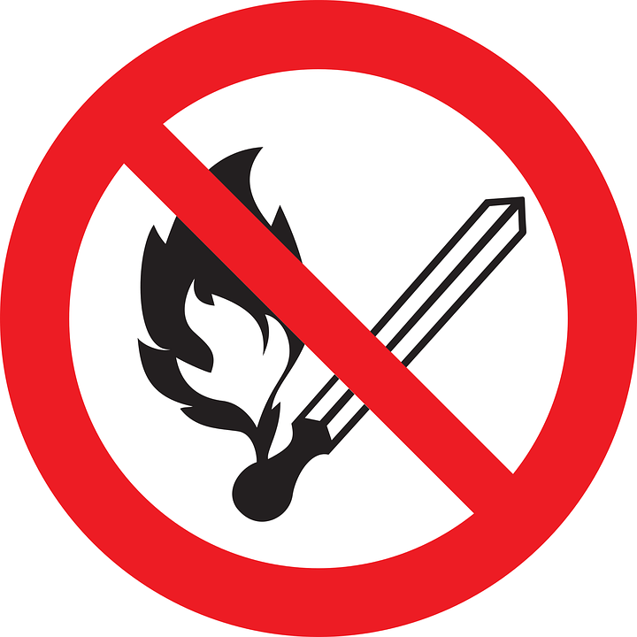 No Fire Sign Prohibited  Free vector graphic on Pixabay
