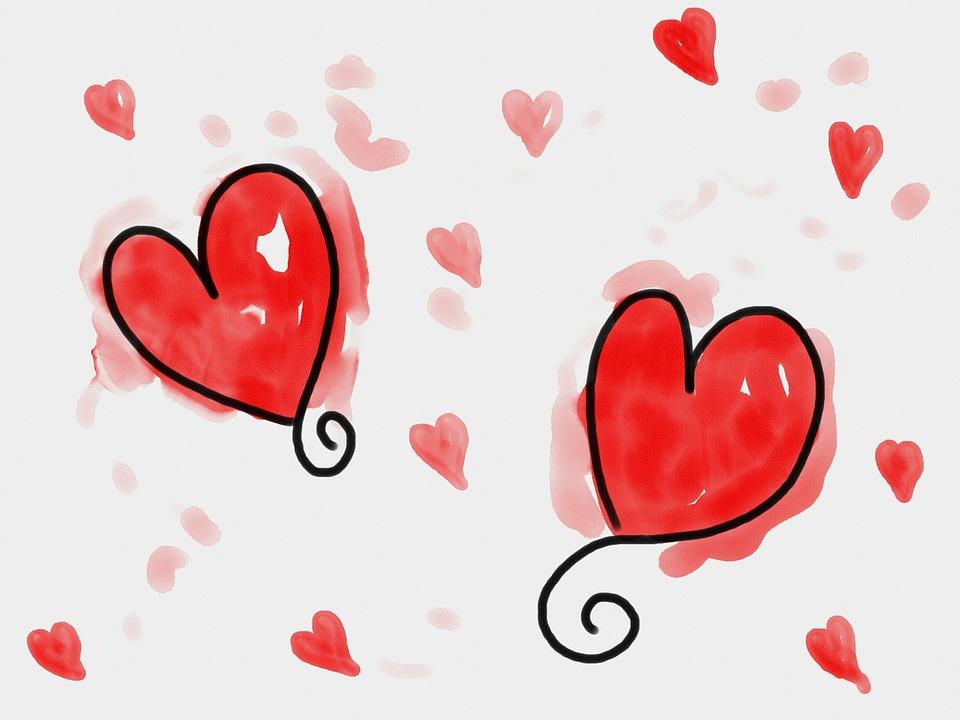 Kostenlose Illustration Herzen Rot Liebe Formen