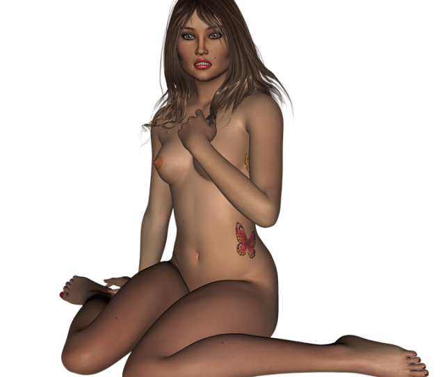 Woman Naked Fear Figure Female Body Act Tattoo