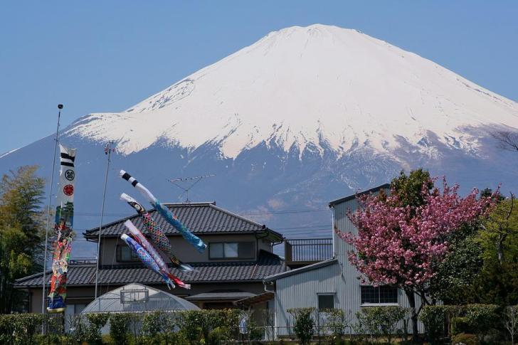 Mt Fuji, Gotemba, Satsuki, Maio, Serpentina De Carpa