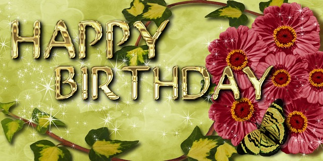 Free Illustration Birthday Greeting Card Flowers Free