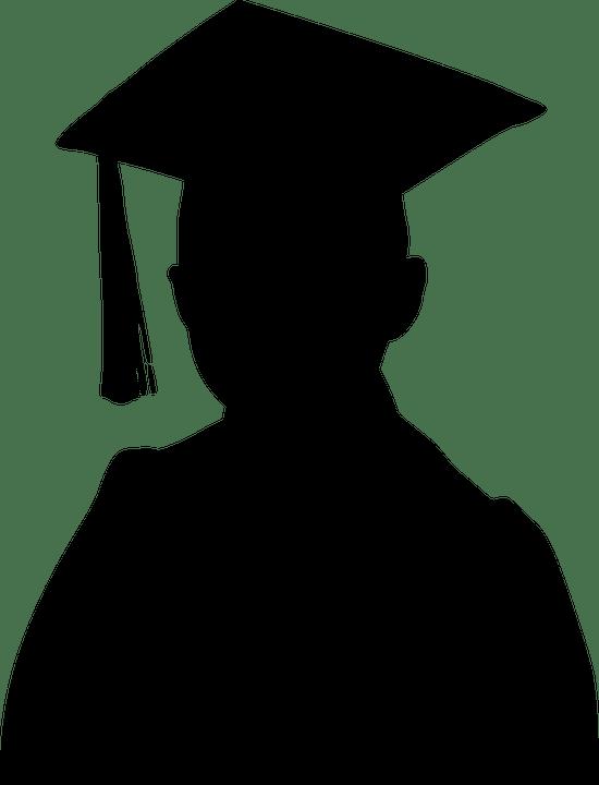 Topi Wisuda Vector : wisuda, vector, Wisuda, Bayangan, Hitam, Gambar, Vektor, Gratis, Pixabay