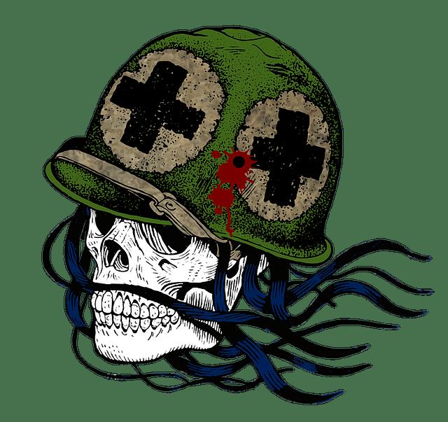 Free illustration Soldier Skull War Helmet  Free