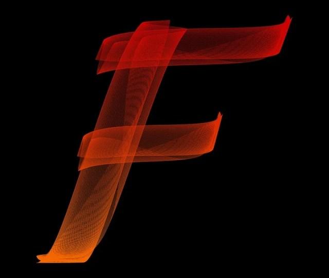 Letter F Particles Alphabet Lines Wave Swing