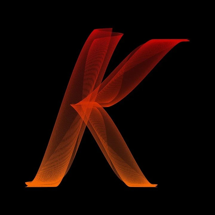 Free illustration: Letter, K, Particles, Alphabet