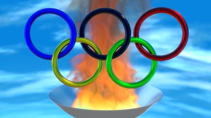 スポーツ, オリンピック, リング, 火, 3 D, ミキサー
