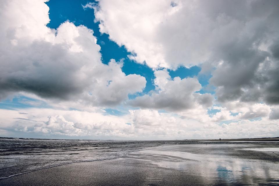 Girl Wallpaper Beach Dramatic Sky Beach 183 Free Photo On Pixabay