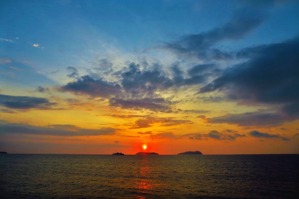 Sunset Wallpaper Hd 무료 사진 석양 일몰 바다 노을 구름 자연 풍경 해변 해질녘 Pixabay의 무료