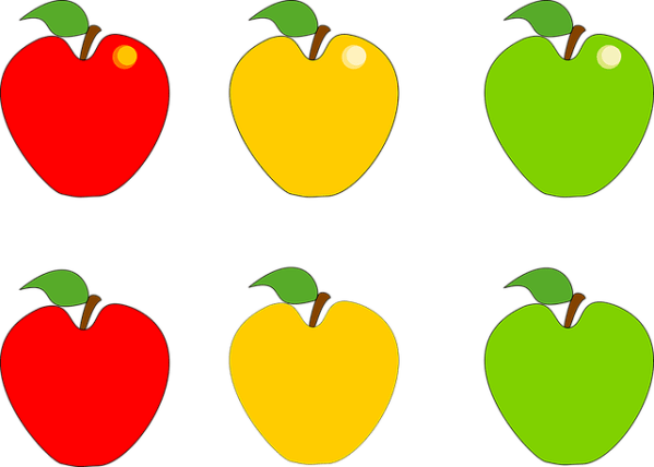 apple fruit green free vector