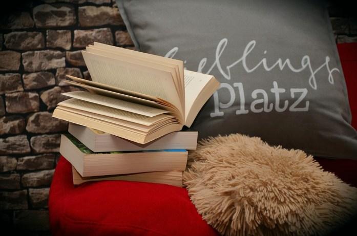 hygge books cushion