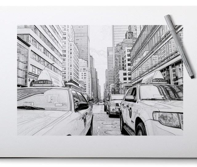 New York Lukisan Pensil Foto Gratis Di Pixabay