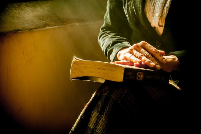 Book, Hands, Reflecting, Bible, Praying, Women, Reading