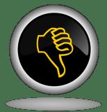 Thumb Down, Button, Icon, Back, Web