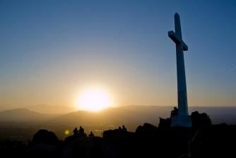 Easter, Easter Sunrise, Cross, Cross On The Hill