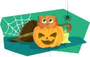 Cat, Pumpkin, Halloween, Scary, Spooky, Treat, Trick