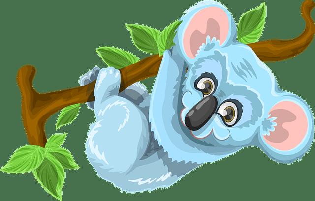Free vector graphic Koala Animal Cute Tree Stick