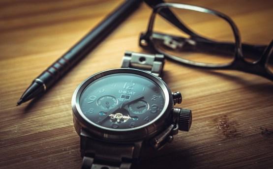 クロック, 時間, 時計, 分, 秒, 腕時計, メガネ, 眼鏡, ペン