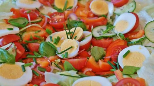 Salada, Misturado, Tomate, Pepino, Alface, Verde