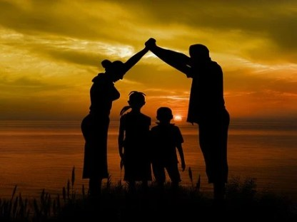 Család, Gyermek, Apja, Anya, Strand, Sun