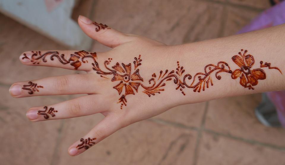 Free photo Henna Hand Girl Mehendi Art  Free Image