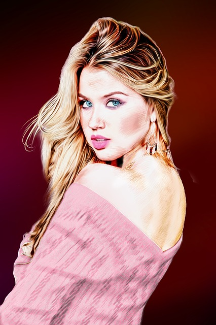 Women Blond Hair Draw Painting Free Image On Pixabay