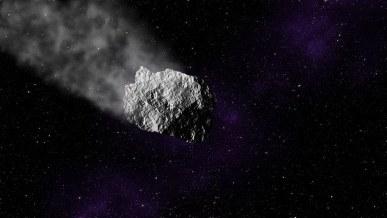 Asteroid, Space, Stars, Meteor