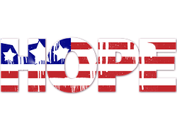 "An image of the word ""hope"", in regards to this article about the presidential election."