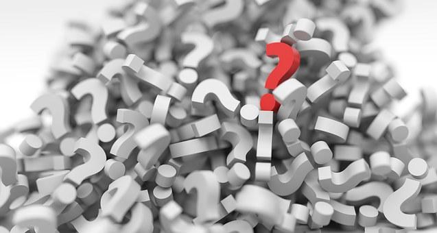 疑問符, パイル, 質問, マーク, スタック, シンボル, 仕事, 聞く