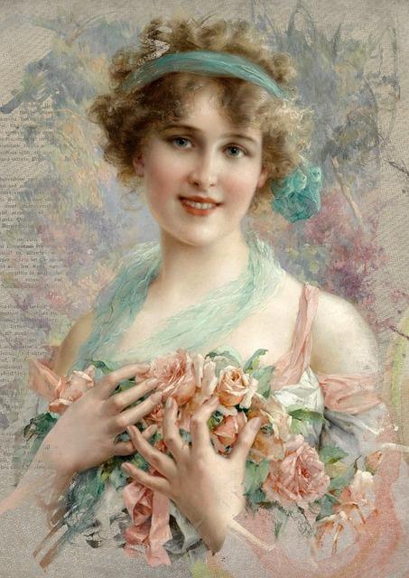 Vintage Woman Art · Free Image On Pixabay