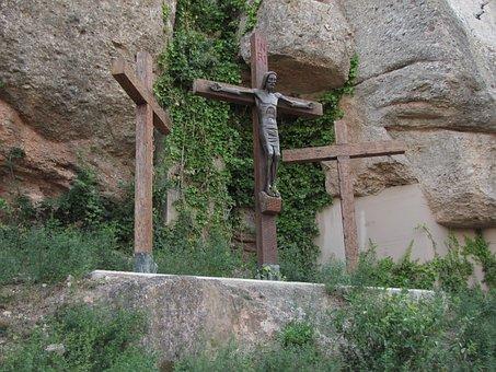 Berg Montserrat, Spanien, Berge, Steine