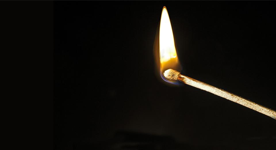 match fire burn free