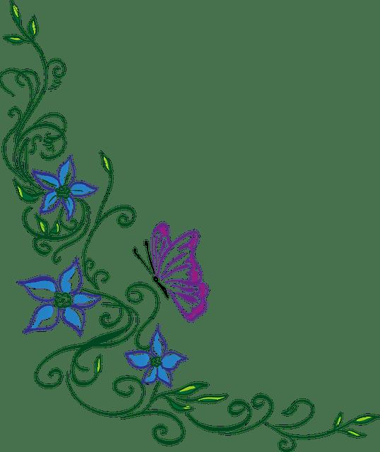 Hiasan Bunga Vector Floral Vektor Gratis Download Gratis Modern