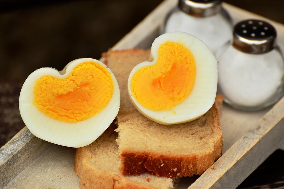 Egg, Hen'S Egg, Boiled Egg, Breakfast Egg, Heart