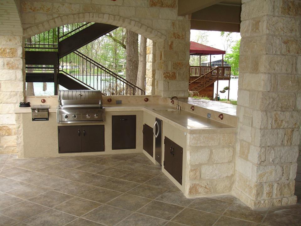 kitchen stone portable island 户外厨房石砌体 pixabay上的免费照片 户外厨房 石 砌体 铜 烹饪 户外 厨房 木材 壁炉 设计 烤架 户外壁炉 烧烤