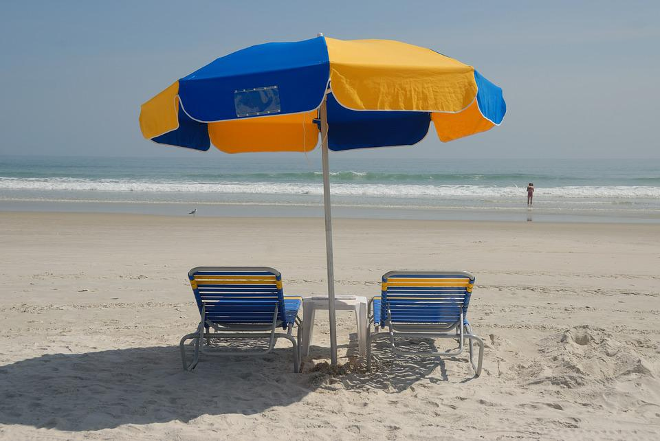 beach chairs and umbrella glider chair nursery free photo on pixabay ocean vacation sand