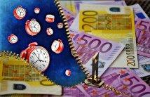 Zeit Ist Geld, Währung, Euro, Uhr Kredit direkt.