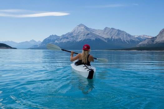 Ragazza, Kajak, Canoa, Kayak, Paddle, Pagaiando, Barca