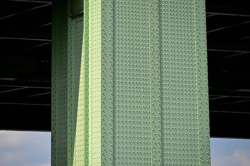 Bridge Piers, Steel Beams, Pillar, Rivet