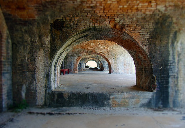 Abstract Fall Wallpaper Free Photo Tunnel Arch Bricks Military Fort Free