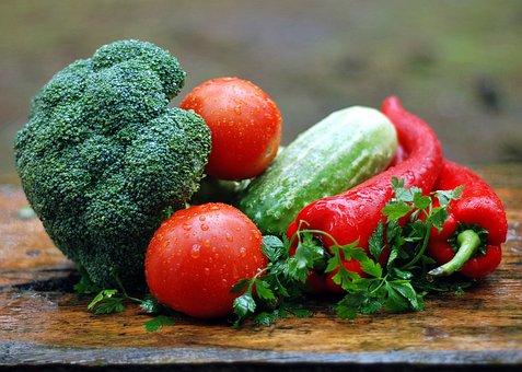 野菜, 健康栄養, 料理, 食品, 食べること, トマト, ブロッコリー